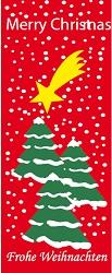 Weihnachtsfahnen Hochformat