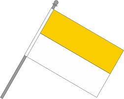Schwenkfahne gelb-weiss ab 4,99 EUR