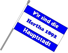 Fan Schwenkfahne Hertha ab 19,59