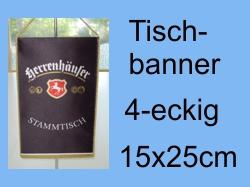 Tischbanner 4-eckig 15x25cm