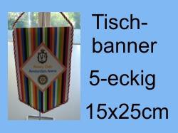 Tischbanner 5-eckig 15x25cm