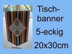 Tischbanner 5-eckig 20x30cm