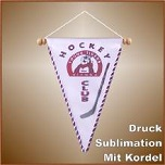 Dreieckwimpel sublimation mit Kordel