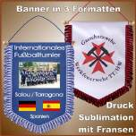 Banner sublimation mit Fransen