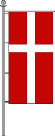 Ökumenische Kirchenfahne Hochformat für Ausleger 150x600cm