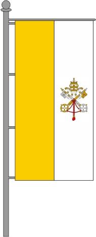 Vatikanische Kirchenfahne Hochformat für Ausleger 80x200cm