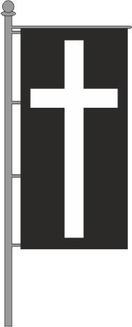 Trauerfahne Hochformat für Ausleger 150x600cm