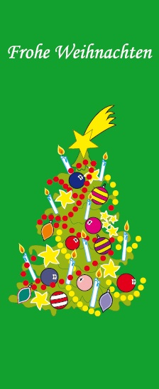 Weihnachtsfahne Hochformat Premium Motiv 4
