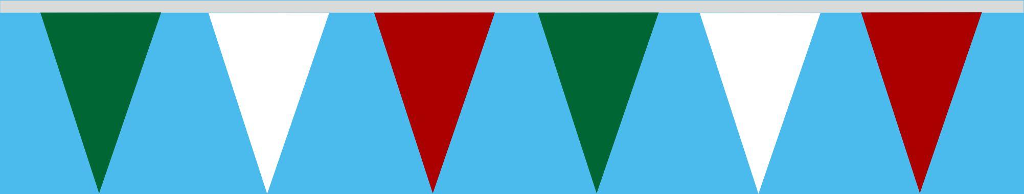 Wimpelkette grün-weiss-rot 20x30