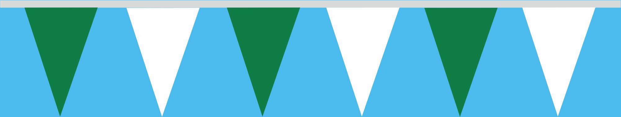 Wimpelkette grün-weiss 30x45