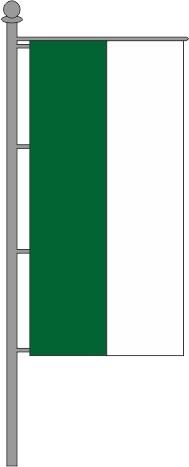 Hochformatfahne für Ausleger grün-weiß