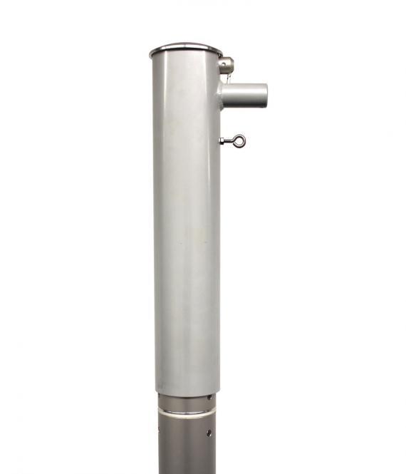 Fahnenmast mit Drehkopfausleger hissbar Ø 90 mm, Länge 6m, 6,5m, 7m