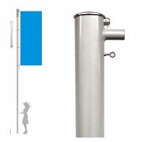 Fahnenmast mit Drehkopfausleger hissbar Ø 100 mm, Länge 7m