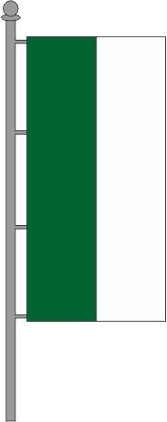 Hochformatfahne grün-weiß