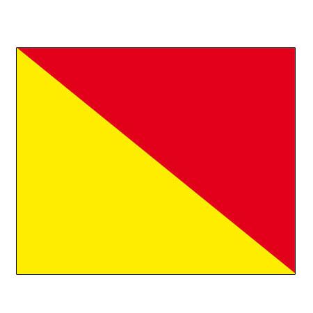 Signalflagge Buchstabe O = Oscar