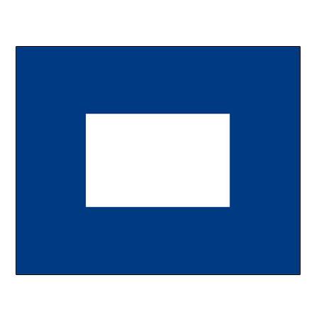 Signalflagge Buchstabe P = Papa