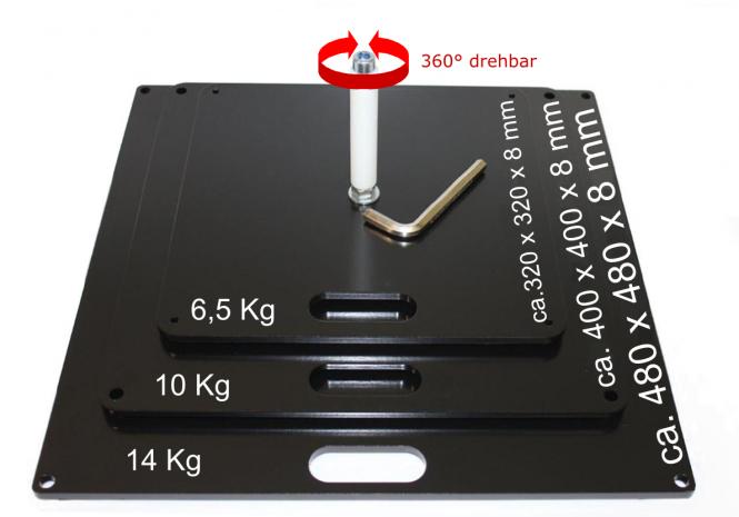 Bodenplatte 47x47cm - 14kg