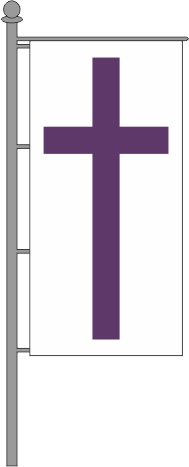 Evangelische Kirchenfahne Hochformat für Ausleger 80x200cm