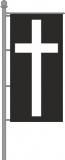 Trauerfahne Hochformat für Ausleger 120x300cm