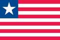 Nationalfahne Import Liberia