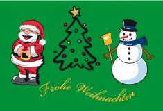 Weihnachtsfahne Querformat Premium Motiv 13