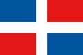 Nationalfahne Import Dominikanische Republik