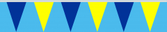 Wimpelkette gelb-blau 20x30