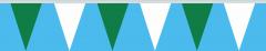 Wimpelkette grün-weiss 20x30