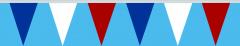 Wimpelkette blau-weiss-rot 30x45