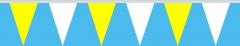 Wimpelkette gelb-weiss 30x45