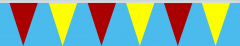 Wimpelkette rot-gelb 30x45