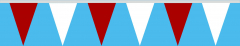Wimpelkette rot-weiss 30x45