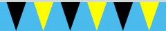 Wimpelkette schwarz-gelb 30x45