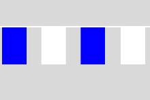 Flaggenkette Blau - weiß 20x30