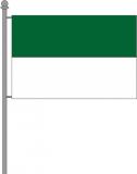 Querformatfahne grün-weiß