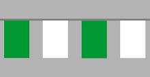 Flaggenkette grün - weiß 20x30