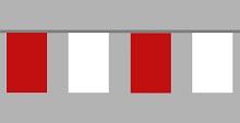 Flaggenkette rot - weiß 30x45