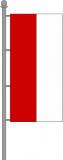 Hochformatfahne rot-weiß