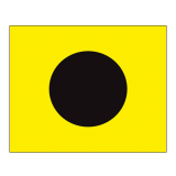 Signalflagge Buchstabe I = India