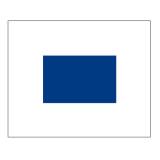Signalflagge Buchstabe S = Sierra
