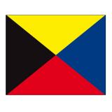 Signalflagge Buchstabe Z = Zulu