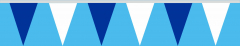 Wimpelkette blau-weiss 20x30