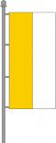 Katholische Kirchenfahne Hochformat gelb-weiß